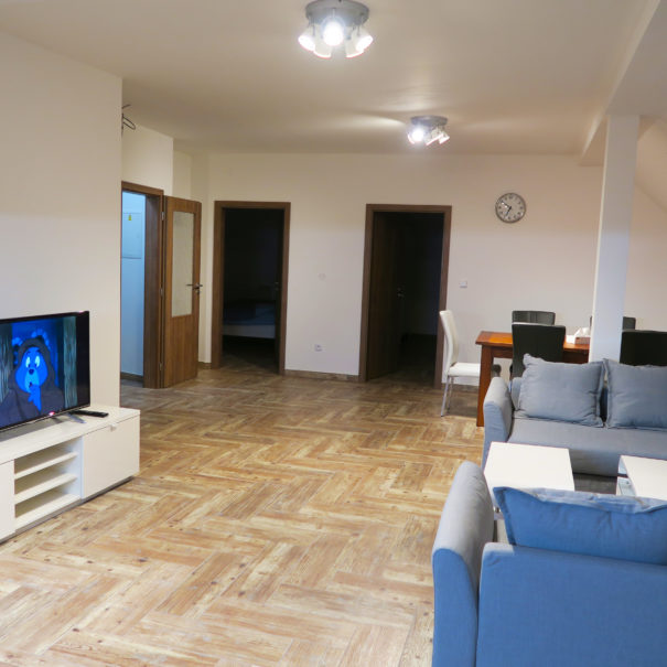 Obývací pokoj Apartmánu Sušice